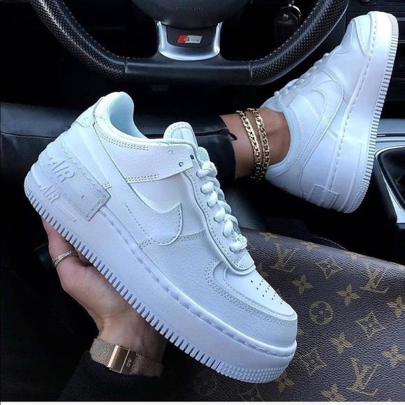 Nike Shoes Womens Air Force 1 Shadow Triple White Poshmark
